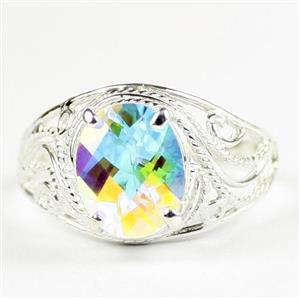 Mercury Mist Topaz, 925 Sterling Silver Ladies Ring, SR083