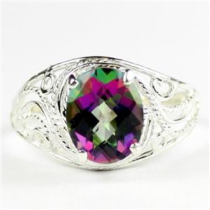 Mystic Fire Topaz, 925 Sterling Silver Ladies Ring, SR083