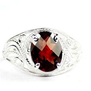 Mozambique Garnet, 925 Sterling Silver Ladies Ring, SR083