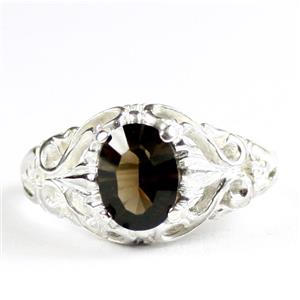 Smoky Quartz, 925 Sterling Silver Ladies Ring, SR113