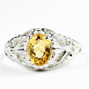 Citrine, 925 Sterling Silver Ladies Ring, SR113