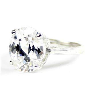 Cubic Zirconia, 925 Sterling Silver Ladies Ring, SR055