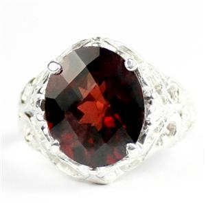 Mozambique Garnet, 925 Sterling Silver Ladies Ring, SR114