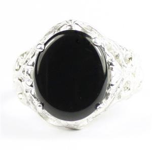 Black Onyx, 925 Sterling Silver Ladies Ring, SR114
