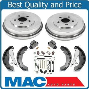 Fits For 03-06 Stratus 4Dr Sedan REAR Brake Drums Shoes Springs W Cylinders 6pc