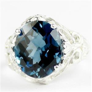 London Blue Topaz, 925 Sterling Silver Ladies Ring, SR114