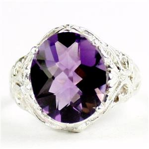 Amethyst, 925 Sterling Silver Ladies Ring, SR114