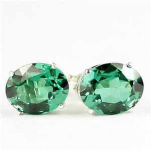 Russian Nanocrystal Emerald, 925 Sterling Silver Earrings,SE102,