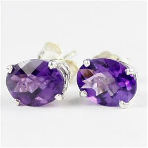 Amethyst, 925 Sterling Silver Earrings, SE102