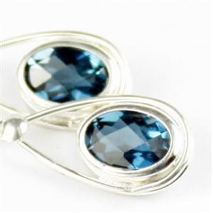 London Blue Topaz, 925 Sterling Silver Ladies Earrings, SE008