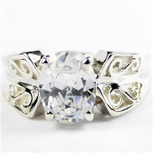 Cubic Zirconia, 925 Sterling Silver Ladies Ring, SR281