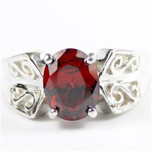 Garnet CZ, 925 Sterling Silver Ladies Ring , SR281