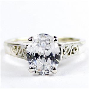 Cubic Zirconia, 925 Sterling Silver Ladies Ring, SR366