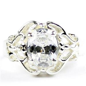 Cubic Zirconia, 925 Sterling Ladies Ring, SR169