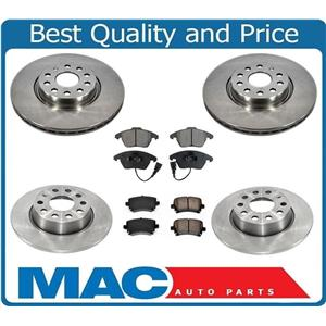New Front & Rear Brake Disc Rotors & Ceramic Pads for Audi A3 A3 Quattro 10-13