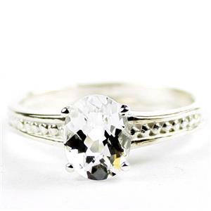 Silver Topaz, 925 Sterling Silver Ladies Ring, SR371