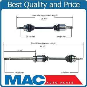 (2) 100% All New NI-8212 CV Axle Shaft Front L & R Fits Quest 04-06 4 Speed