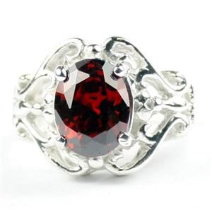 Garnet CZ, 925 Sterling Silver Ladies Ring, SR169