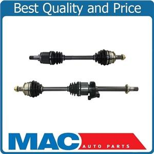 (2) 100% New CV Axle Shaft Set L & R For Cooper 02-08 W CVT Automatic 1.6L Base