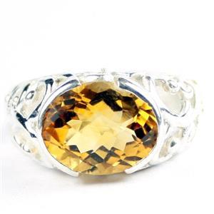 Citrine, 925 Sterling Silver Ladies Ring, SR360