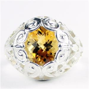 Citrine, 925 Sterling Silver Ladies Ring, SR313