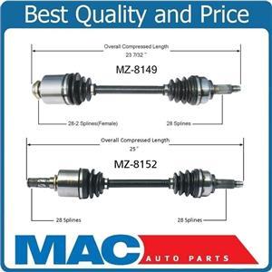 (2) 100% New CV Axle Shafts for 2012-2014 Mazda 5 2.5L W Standard Transmission
