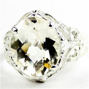 Silver Topaz, 925 Sterling Silver Ladies Ring, SR114