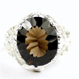 Smoky Quartz, 925 Sterling Silver Ladies Ring, SR114