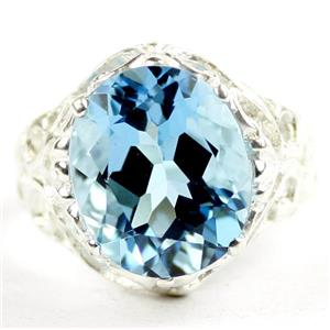 Swiss Blue Topaz, 925 Sterling Silver Ladies Ring, SR114