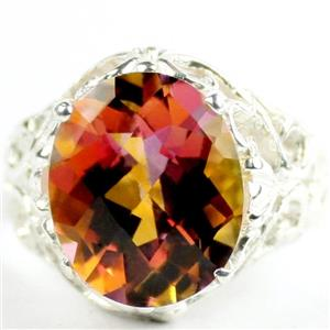 Twilight Fire Topaz, 925 Sterling Silver Ladies Ring, SR114