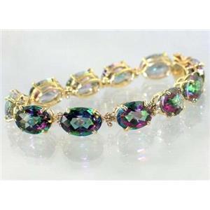 B005, Mystic Fire Topaz Gold Bracelet