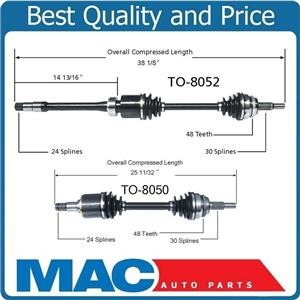 (2) 100% New CV Axle Shaft Front 04-06 RX330 07-09 RX350 Front Wheel Drive Only