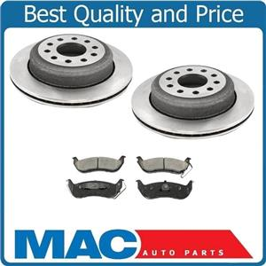 New Rear Brake Rotors & Ceramic Brake Pads for Lincoln Town Car 03-2011 No Limo