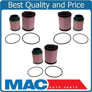 New for Nissan 16-18 Titan XD 5.0L 6pcs Diesel Fuel Filters Recommeded Service