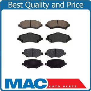 Fits 2014-2016 Town & Country Front & Rear Ceramic Brake Pads Using 302MM Rotors