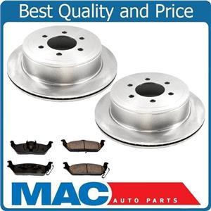Rear Ceramic Brake Pads and (2) Brake Disc Rotors 06-08 Lincoln Mark LT 6 Stud