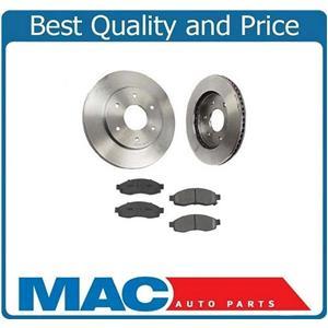 (2) Front Brake Rotors & Ceramic Pads for 2004-2005 Nissan Armada