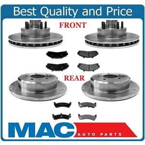 2 Wheel Drive Only F&R Brake Rotors & Pads 2WD For 95-01 Explorer , Mountaineer