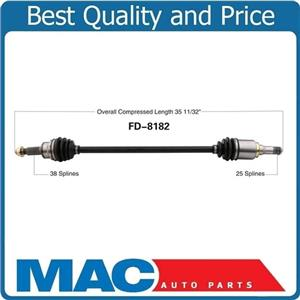 100% NEW CV DRIVE AXLE SHAFT REAR PASS SIDE FOR 09-16 Taurus AWD 10-13 MKT AWD