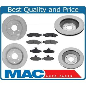 100% New for Chevrolet Corvette 88-95 Front & Rear Rotors & CERAMIC Pads 6Pc