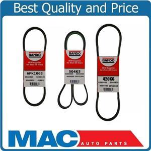 Power Steering Belt Fan/Alternator & Belt AC Belt for Nissan Pathfinder 96-00