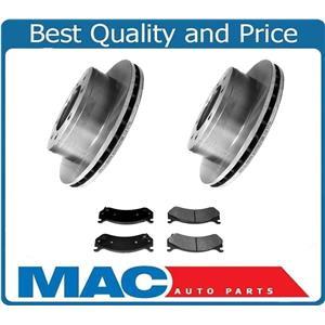 Rear Wheel Rr Disc Brake Rotors &Ceramic Pads for 99-04 Silverado 2500 W Single