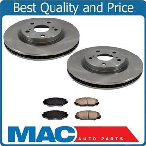 Fits 09-13 Front Wheel Drive 2.4L Vibe Matrix FRONT Brake Rotors & CERAMIC Pads