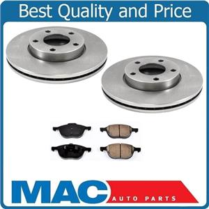 04-2013 Mazda 3 2.0L Front Left and Right Brake Rotors & Ceramic Pads Non Turbo