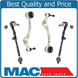 (2) 100% New Lower Forward +(2) Tie Rods  Fits For 08-13 128i BMW With Bushings