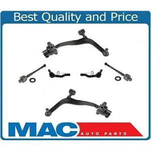 Lower Control Arms Inner and Outer Tie Rods 6Pc Kit for Infiniti FX35 FX45 03-08