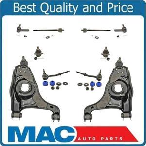 97-99 Dakota Rear wheel Drive Low Control Arms Ball Joints Tie Rods Sway Bar 10P