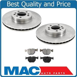 100% New Front Rotors With Ceramic Front Brake Pads for 2000-2006 BMW X5