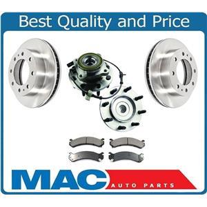 Front Hub & Bearings Brake Disc Rotors Ceramic Pads for 03-07 Hummer H2