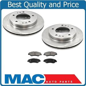 2 Front Brake Rotors & Front Brake Pads for Kia Sportage 1998-2002
